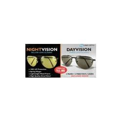 Okulary dla kierowców do jazdy w dzień i w nocy (para)