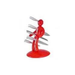 Stojak na noże Twój były - THE EX czerwony