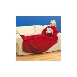 Kocyko-szlafrok z kieszonką - czerwony